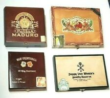 New ListingCigar Boxes Empty Collectible Bundle of Four Variety Maduro Pappy Van Winkle