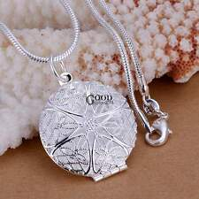 Pocket Watch Cut Graceful Stylish Txgt Pendant Round Shape Necklace Lady Women