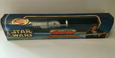 Star Wars Attack of The Clones Obi-Wan Kenobi Electronic Lightsaber w/ Box