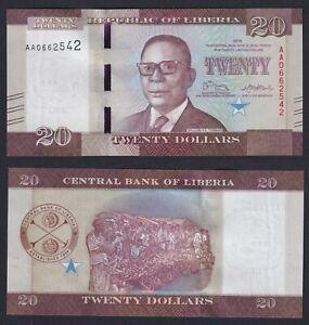 Liberia 20 dollars 2016 FDS/UNC  C-07
