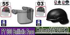 Riot Helmet (W200) Police Tactical Headgear compatible w/ toy brick minifig Army