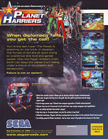 SEGA PLANET HARRIERS ORIGINAL NOS VIDEO ARCADE GAME SALES FLYER BROCHURE 2001