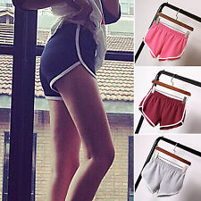 Womens Elastic Casual Running Sport Shorts Gym Fitness Yoga Beach Pants Bottoms