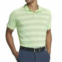 Nike Mens Zonal Cooling Stripe Golf Polo Shirt Size M AH8467-701 Green $75