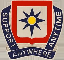 138 Finance Bn Unit Crest (Support Anywhere Anytime) (DUI-0138E)