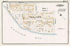 GOAD CHARLES E CANADA KITSILANO BEACH PARK 1912 COPY ATLAS MAP VANCOUVER