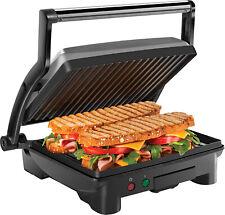 Panini Press Grill 4 Slice Electric Non-Stick Plates Summer Party Family Event