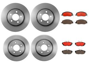 Brembo Front & Rear Brake Kit Disc Rotors Ceramic Pads For Ford Mustang '11-'12