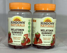 Sundown Naturals MELATONIN GUMMIES - STRAWBERRY - 2 PK - 60 Each - EXP 06/2020