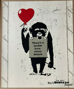 Real Not Banksy Front - True Love Fake Art Suckers! Signed Numbered Limited