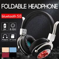 bluetooth 5.0 Wireless Stereo Headphones Foldable Headset Super Bass  ❤