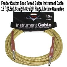 FENDER Custom Shop 15 ft Tweed Instrument Guitar Cable Cord Bass Foot NEW