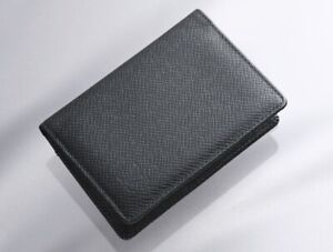 K0505M Louis Vuitton Taiga Genuine Leather Business & Credit Card Case