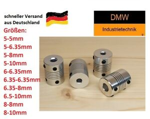 Wellenkupplung 3D Drucker CNC D19 L25 Aluminium Anycubic Prusa I3 Shaft Coupler