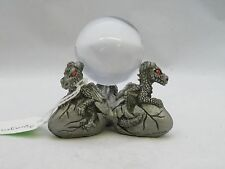 New Fantasy Mythical & Magic Sunglo Pewter Baby Dragon Crystal Ball Holder