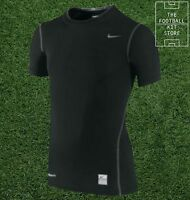 Nike Pro Base Layer - Compression Short Sleeved Top - Football - Boys Sizes
