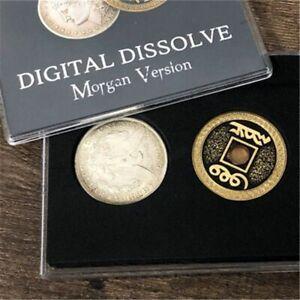 Magic Tricks Coin Visual Change Magician Close Mentalism Illusions Gimmick Props