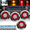 """4X 4"""" LED Round Tail Lights Indicator Stop Brake Lamp For Boat Car Truck Trailer"""