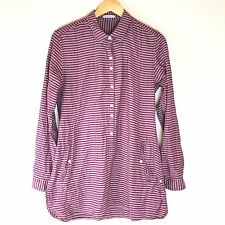 TOAD & CO 'Mixologist' Tunic Popover Shirt Pockets Long Sleeve Tyrian Purple M7