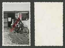 or. Foto Motorrad IIB Familie Kinder Wamsler Öfen Verkaufsstelle Oberbayern 1935