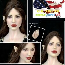 1/6 Fairy Elf Female Head Brown Detachable Ears SUNTAN for PHICEN hot toys ❶USA❶