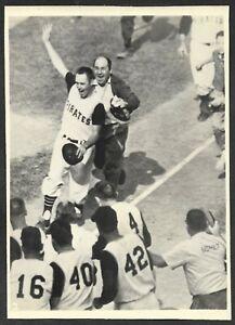1960 Bill Mazeroski  PIRATES  UNSIGNED  4-1/2 x 6-1/4  ORIGINAL STAFF PHOTO #9