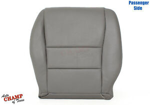 03-07 Honda Accord 4-DR EX SE LX -Passenger Side Bottom Leather Seat Cover Gray