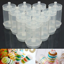 10Pcs Plastic Push Up Pop Cake Containers Lids Shooters Wedding Birthday Party