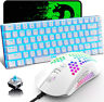 Gaming Keyboard and Mouse,3 in 1 Gaming Set,LED Backlit Wired 12000 DPI MousePad