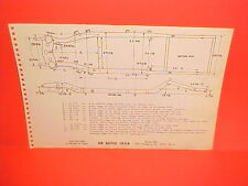 1954 DESOTO FIREDOME V8 CONVERTIBLE SPORTSMAN 6P SEDAN FRAME DIMENSION CHART 54