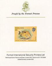Belize 5117 - 1984 MARINE LIFE $5  imperf on Format International PROOF  CARD