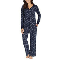 Nautica Womens 2 Piece Fleece Pajama Sleepwear Set