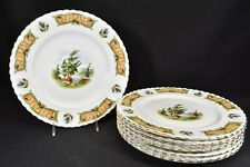 Royal Albert Knotty Pine Set of 8 Dinner Plates