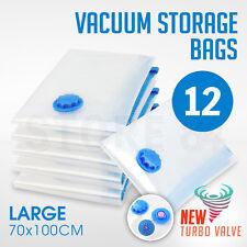 12 x Vacuum Storage Bags - LARGE 70x100cm - Space Saving - BULK Buy Saver