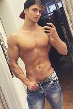 Shirtless Male Frat Boy Jock Super Cute Dude in Jeans PHOTO 4X6 C2111