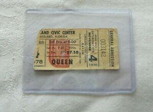 QUEEN QUEEN NOV 4 1978 FLORIDA SHOW TICKET STUB  WITH BONUS GIFT