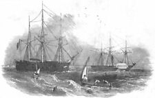 VOLCANOES. N Star, search John Franklin's Expedition. towed Stromboli ship, 1849