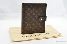 Authentic Louis Vuitton Monogram Agenda GM Day Planner Cover R20106 LV T521