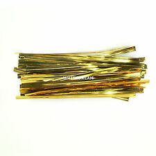 Premium Quality Metallic Twist Ties 10cm for Cone Cello Bags Party/Cake 4 inch