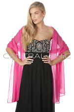 Central Chic Silky Chiffon Wrap Stole Shawl For Weddings Bridal Bridesmaid Races