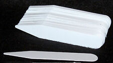 100 White Plastic Plant Labels Tags / Stakes 4 inches  x 1/2 inches Made in USA