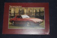 Mazda RX7 Sales Folder Date March 1981