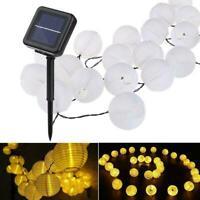 Solarbetriebene Laterne Lichterkette Outdoor Garden Yard Lampe Decor C2I4