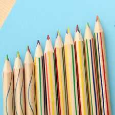 New 10pcs/Lot Rainbow Color Pencil 4 in 1 Colored Drawing Painting Pencils