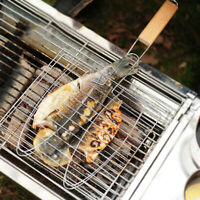 Barbecue Grilling clip Grill BBQ Net Steak Meat Fish Vegetable Holder Tool.~ HOT
