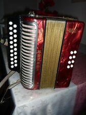 Akkordeon Hohner ERICA 8 Bass Rot guter gebrauchter Zustand