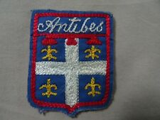 VINTAGE ANTIBES  Embroidery Souvenir PATCH