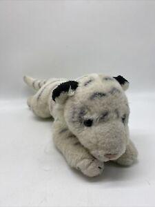 Animal Alley Plush White Tiger Stuffed Animal Toys R Us Blue Eyes Stripes