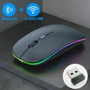 Bluetooth Wireless Rechargeable Mouse For Computer PC Laptop iPad Tablet MacBook