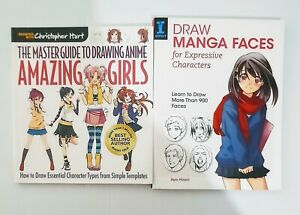 Manga/Anime Books Draw Manga Faces & Master Guide to Drawing Anime Amazing Girls
